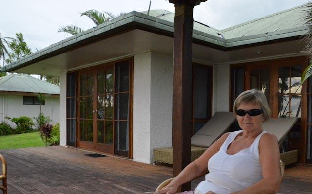 Avslappning på terrassen