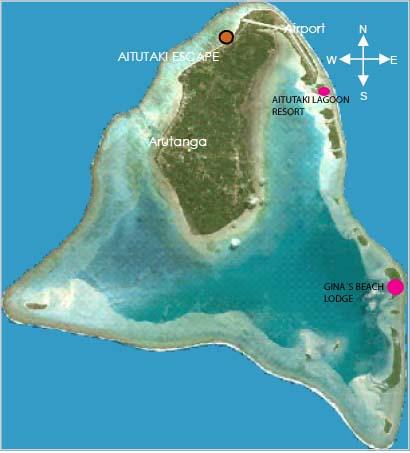 Kart over Aitutaki