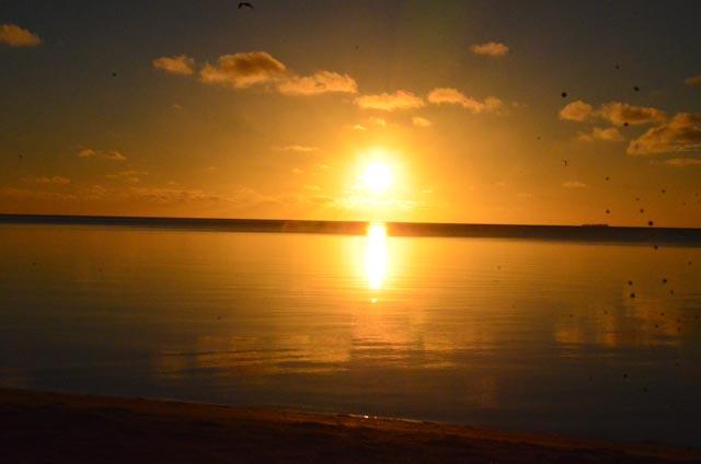 Enda en solnedgang, denne gangen sett fra Akaiami Island