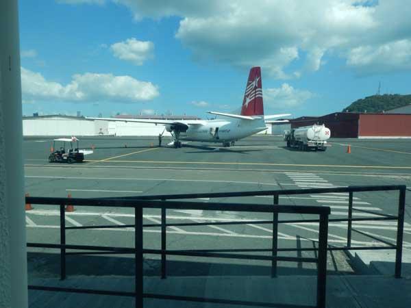 På Albrooke Airport i Panama City