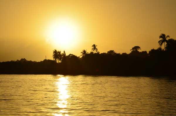Solnedgang på Bastimentos