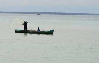 Lokal fisker i aksjon